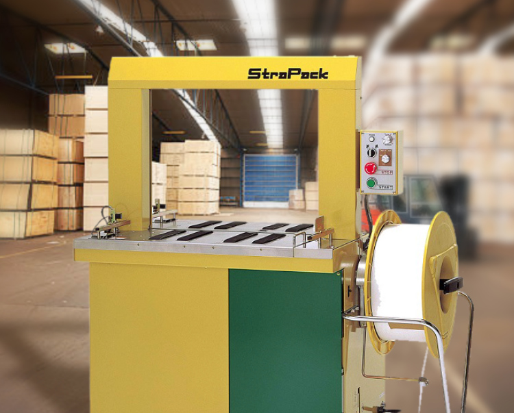 A StraPack RQ-8 in the middle of a warehouse