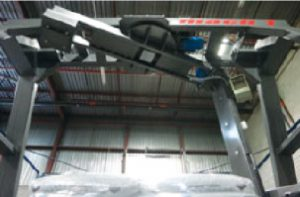 A photo showing the top of March 1's dynamic strapping system