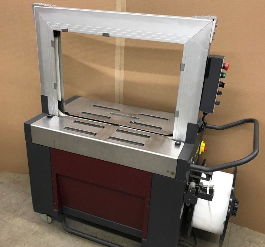 """A photo showing a refurbished 3/8"""" Arch Strapping Machine"""
